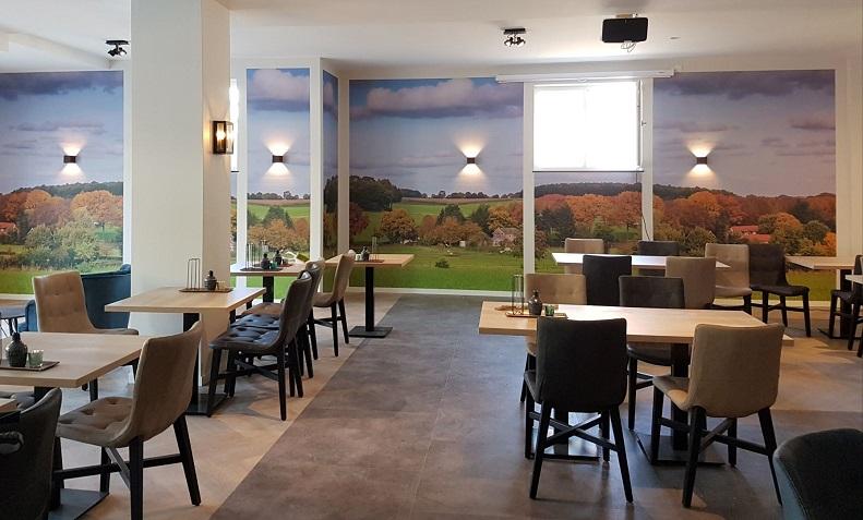 Fotowand in restaurant - gebruik van kleuren in je bedrijf