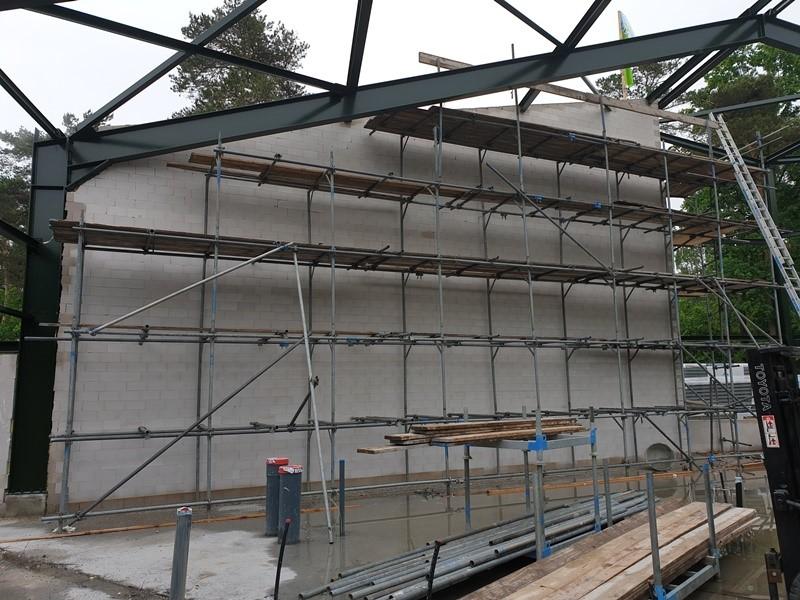 Nieuw gebouwde wand Landal het Vennebos
